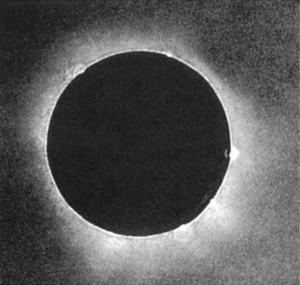 solar-eclipse-by JuliusBerkowski.1851 Russia.daguereotype